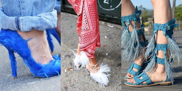 Женская обувь: Перья