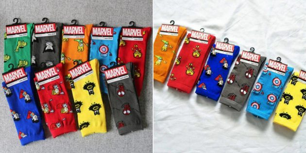 Носки для любителей комиксов