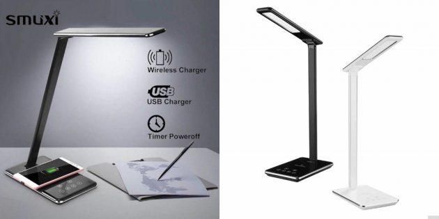 Настольная лампа с зарядкой