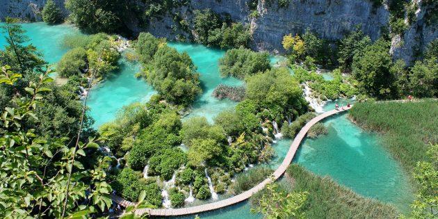Куда поехать в Европе: Национальный парк «Плитвицкие озёра», Хорватия