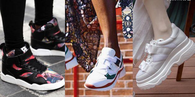 Модные кроссовки: Кроссовки с пряжками и липучками