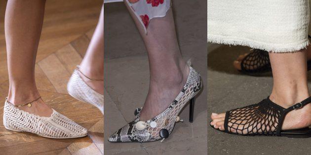 Женская обувь: Обувь в сеточку