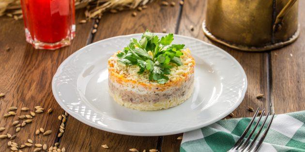 Салат «Мимоза» с тунцом: простые рецепты