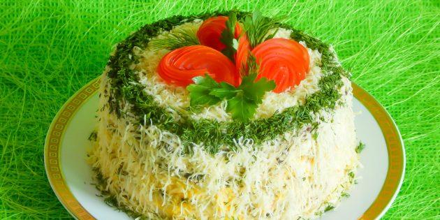 Рецепты: вкусный печёночный торт с вафельными коржами