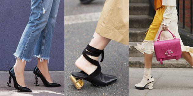 Женская обувь: Обувь со скульптурным каблуком