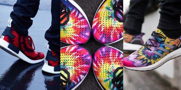 Модные кроссовки: Кроссовки Tie Dye