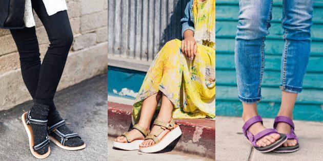 Женская обувь: Сандалии в стиле Teva