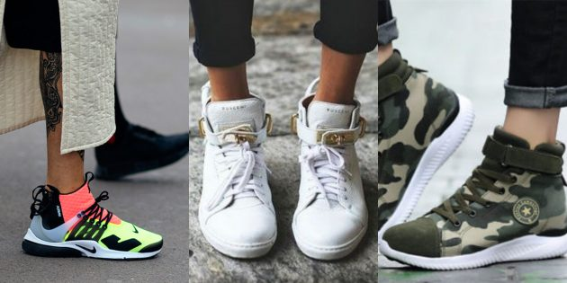 Модные кроссовки: Высокие кроссовки-ботинки
