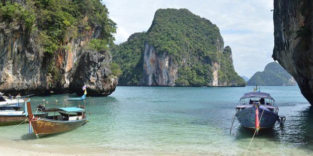 Территория Азии не зря привлекает туристов: острова Пхи-Пхи, Таиланд