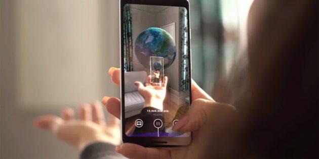 Google выпустила приложение дополненной реальности о зарождении Вселенной