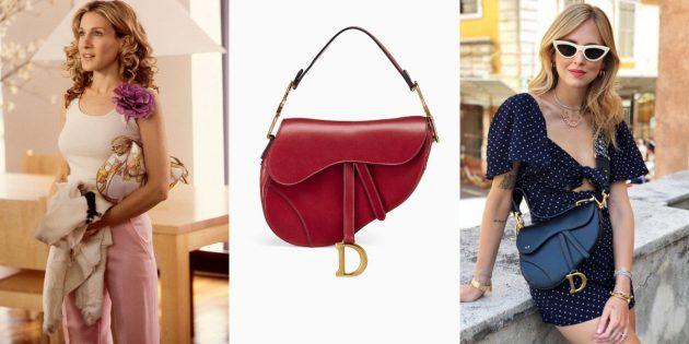 Модные сумки 2019 года: Saddle Bag от Christian Dior