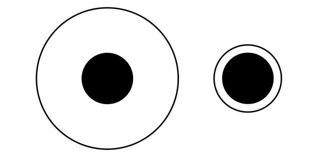 Зрительное восприятие: иллюзия Дельбёфа