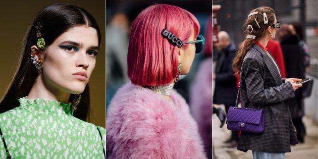 Модные аксессуары 2019года: заколки
