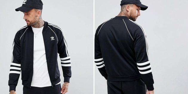 Чёрная спортивная куртка