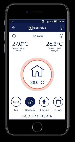 Терморегулятор Electrolux ETS-16можно синхронизировать со смартфоном