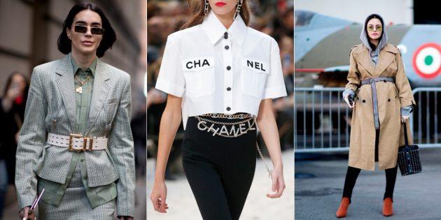 Модные аксессуары 2019года: ремни