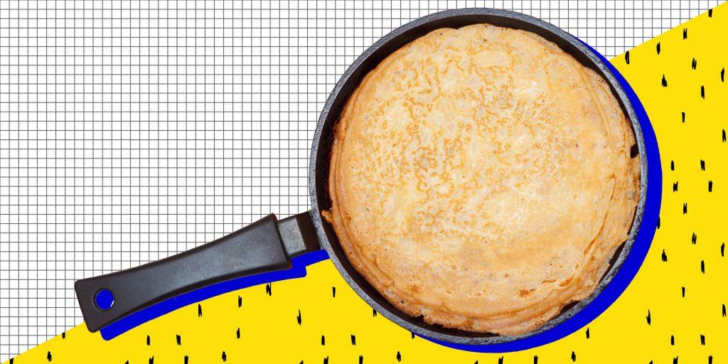 Тонкие блины на воде с яйцами пошаговый рецепт