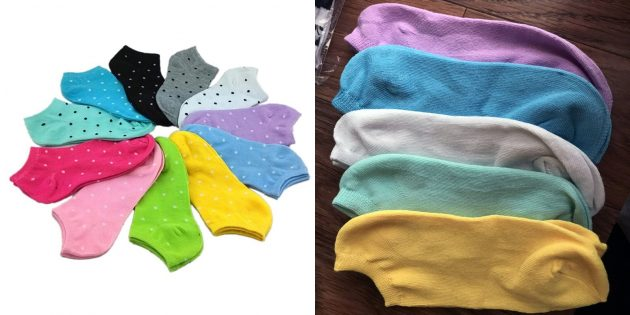 Набор женских коротких носков