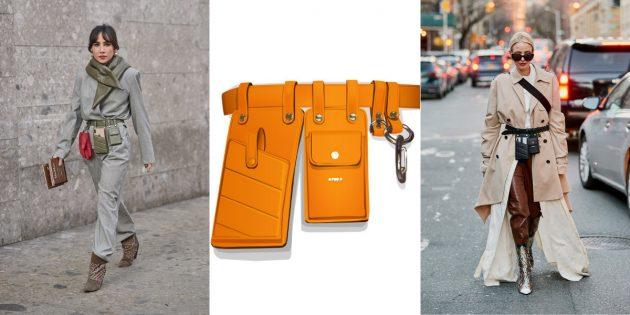 Модные сумки 2019 года: Сумка-ремень Fendi