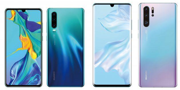 Лучшие смартфоны марта 2019года: Huawei P30 и P30Pro