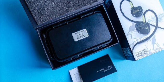 Аудиофильские наушники Oriolus Finschi: содержимое коробки