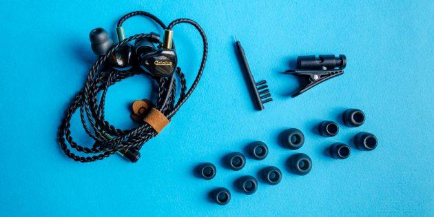 Аудиофильские наушники Oriolus Finschi: семь пар амбушюр разного размера