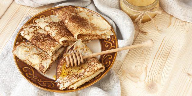 Заварные блины без яиц на молоке: простой рецепт