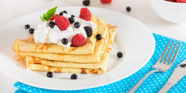 Блины без яиц на молоке: простой рецепт