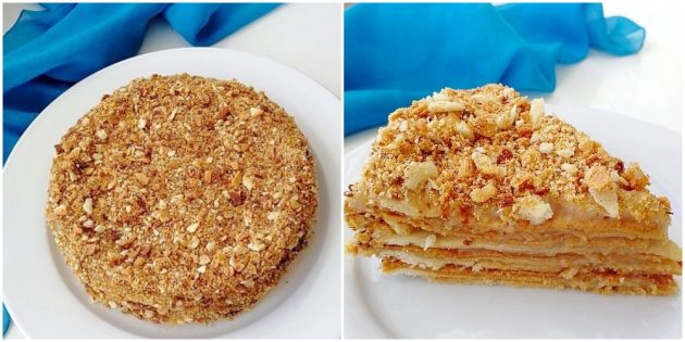 Постный торт «Наполеон»