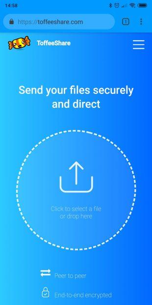 Как передать большой файл быстро и безопасно: ToffeeShare работает на любых платформах, в том числе мобильных
