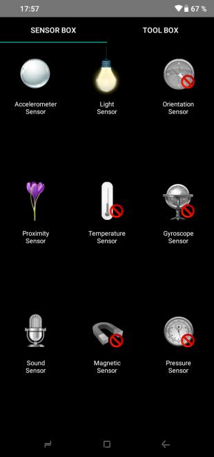 Doogee Y8: Датчики и сенсоры
