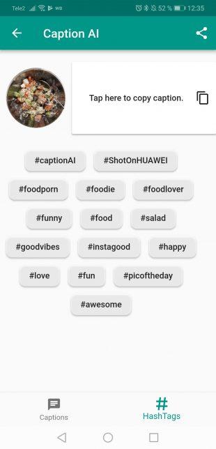 Caption AI автоматически подберёт хештеги для ваших фото в Instagram