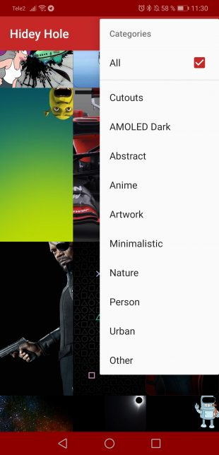 Hidey Hole — все обои с отверстиями для Galaxy S10 в одном приложении