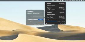 Clocker показывает точное время городов мира в менюбаре macOS
