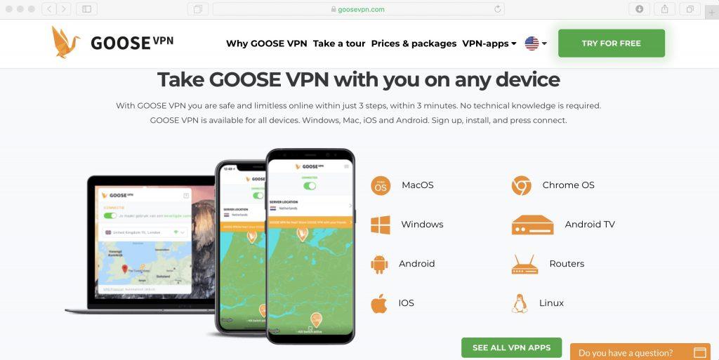 Как использовать Netflix в России: установите приложение Goose VPN со страницы загрузки и включите его