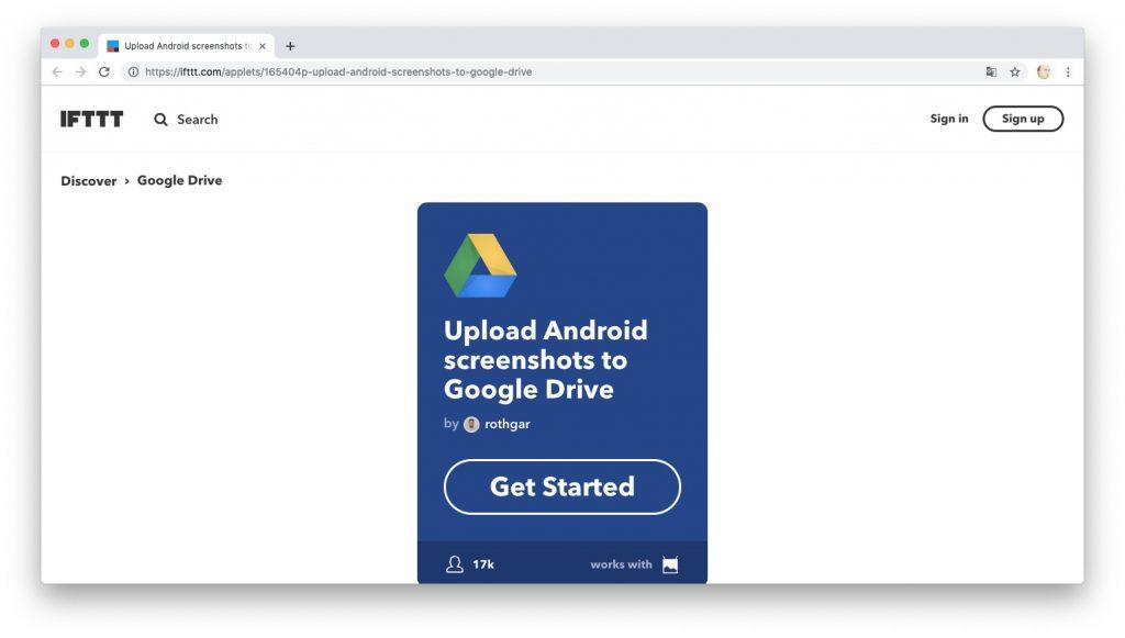 Автоматизация действий с помощью рецептов IFTTT: загружаем скриншоты в Google Drive