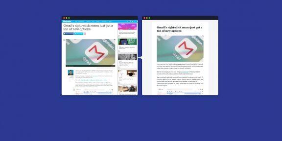 Fika — удобный режим чтения веб-страниц в браузере Chrome