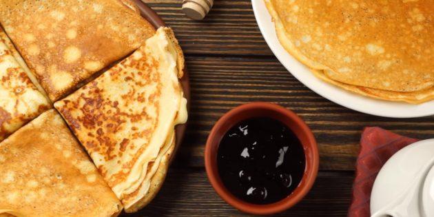 10 лучших рецептов блинов на кефире