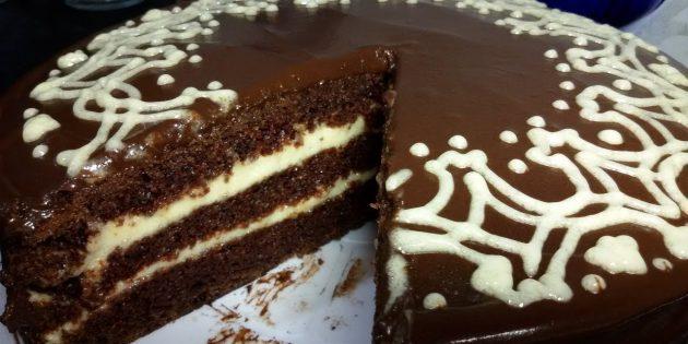 Шоколадный постный торт