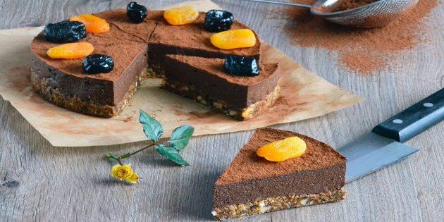 Муссовый постный торт без выпечки