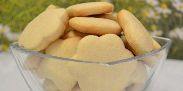 Рассыпчатое постное печенье