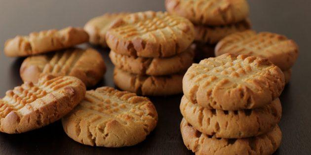 Постное печенье с арахисовой пастой