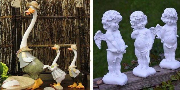 Встречаем дачный сезон: садовые фигурки и украшения