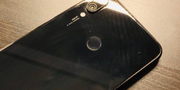 Redmi Note 7: Сенсор отпечатка пальца