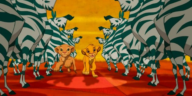 «Король Лев»: зебры вроде одинаковые и нарисованы под копирку