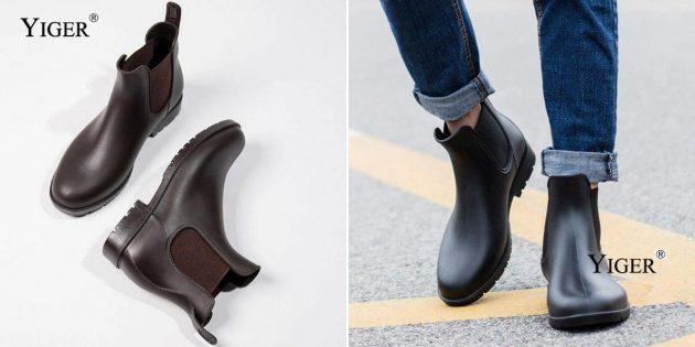 Мужские резиновые ботинки