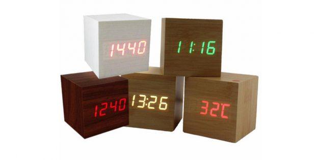 Деревянные квадратные часы