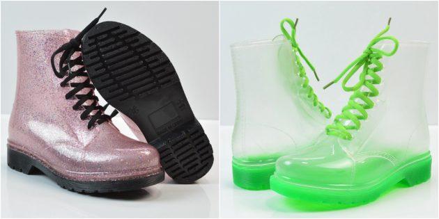 Женские резиновые сапоги: Стильные резиновые сапоги