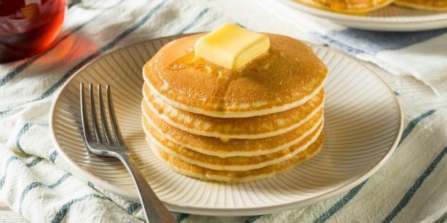Рецепт толстых блинов на молоке
