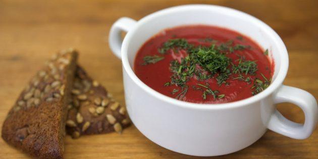 Постный свекольный суп-пюре